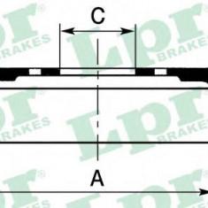 Tambur frana FIAT PANDA 750 - LPR 7D0044 - Saboti frana auto