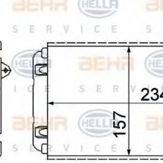 Schimbator caldura, incalzire habitaclu RENAULT 19 Mk II limuzina 1.9 D - HELLA 8FH 351 311-631 - Sistem Incalzire Auto