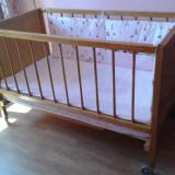 Patut copil 0-2 ani - Patut lemn pentru bebelusi, 120x60cm