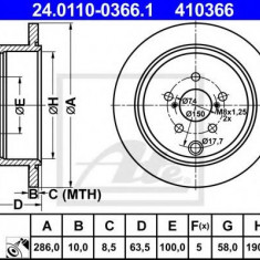 Disc frana SUBARU FORESTER 2.0 AWD - ATE 24.0110-0366.1 - Discuri frana REINZ
