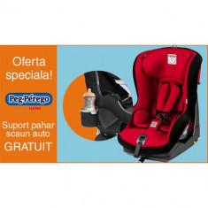 Scaun Auto Viaggio1 Duo Fix TT 9-18 kg + Suport Pahar PROMO Rouge - Scaun auto bebelusi grupa 0+ (0-13 kg) Peg Perego
