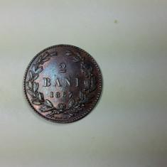 2 BANI 1867 - HEATON - STARE FOARTE BUNA - LUCIU - ADEVARATA PIESA DE COLECTIE - Moneda Romania