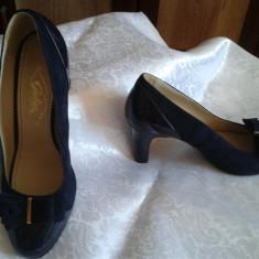 Pantofi de dama, marca GUBAN - Pantofi dama Guban, 41, Bleumarin