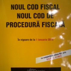 Noul cod fiscal noul cod de procedura fiscala - Carte Drept financiar