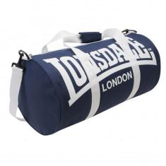 Geanta de sala ftness Lonsdale barrel bag - Geanta Barbati Lee Cooper, Marime: Masura unica, Culoare: Bleumarin, Geanta tip postas, Bumbac