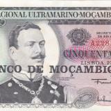 MOZAMBIC 50 escudos 1970 XF+!!!