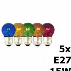 5in1 5 colours Party Ball Lamp tray 15W 240V E27 CA057 - Set poker