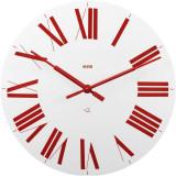Ceas pentru perete Firenze alb, rosu - Ceas de perete