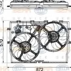 Ventilator, radiator FIAT DUCATO bus 250 PRODUCATOR HELLA 8EW 351 040-631
