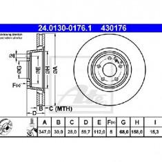 Disc frana AUDI A6 4F2 C6 PRODUCATOR ATE 24.0130-0176.1 - Discuri frana
