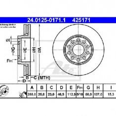 Disc frana VW PASSAT 3B2 PRODUCATOR ATE 24.0125-0171.1 - Discuri frana