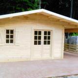 Cabana de lemn Big Diana, 5X4m+terasa 4X2m - Casa de vanzare, 20 mp, Numar camere: 2, Suprafata teren: 100