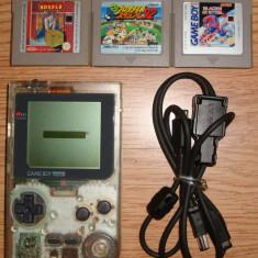 GameBoy Pocket + 3 Jocuri si cablu retea - Consola Nintendo