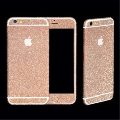Sticker iPhone 6 Stralucitor Acoperire Completa Roz - Sticker Telefon