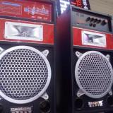 Boxe mari  active cu bluetooth statie incorporata, intrare microfoane
