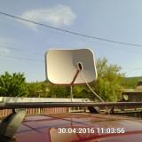 Suport cu antena panoramica si lnb pentru rulota