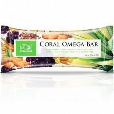 Colier argint - Coral Omega Bar