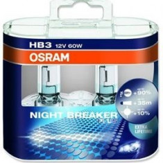 Set 2 becuri HB3 Osram Night Breaker Plus
