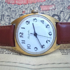 Ceas rusesc de colectie Raketa cal 2609.HA, placat cu aur, functional - Ceas de mana