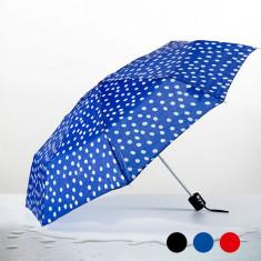 Umbrelă Pliantă cu Buline - Umbrela Dama, Culoare: Albastru, Negru