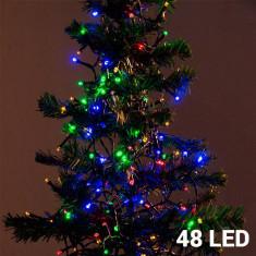 Lumini de Crăciun Multicolore (48 LED) - Instalatie electrica Craciun