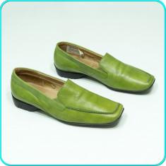 DE FIRMA _ Pantofi / Mocasini dama, COMOZI, din piele, GABOR _ femei | nr. 38 - Pantof dama Gabor, Culoare: Verde, Piele naturala