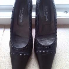 Pantofi cu toc italia marime 36 - Pantofi dama, Culoare: Negru