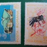 Romania 1966 LP 610 - serie nestampilata MNH Congresul internat. pt apicultura