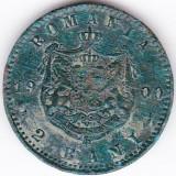 Carol I. 2 bani 1900 patina verde - Moneda Romania, An: 1884