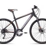 "Bicicleta dama CTM Elite 2.0, 2016, cadru 17"", negru mat / portocaliu PB Cod Produs: 037.65"