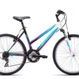 "Bicicleta dama CTM Stefi 2.0, 2016, cadru 18"", negru / albastru PB Cod Produs: 037.54"