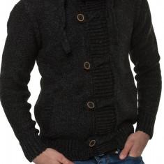 Jacheta-Pulover Tricotat Barbati Carisma Antracit 7185 - Pulover barbati Carisma, Marime: L, Culoare: Din imagine