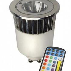 RGB LED GU10 240V 5W + Remote-Control CA027