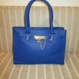 Geanta dama model Hermes albastra+CADOU, Culoare: Din imagine, Marime: Mare