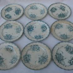 Set de 9 farfurii din portelan vechi Goteborg Anna Original anii 1910