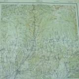 Targu Jiu Gorj Oltenia harta militara color