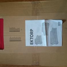 Husa canapea neextensibila Ikea Ektorp Idemo rosu 3 locuri NOUA nefolosita