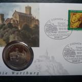 1993 Germania - FDC si medalie ( Wartburg )., Europa
