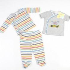 Set hainute in dungulite 3 piese pentru bebelusi Laura Ashley 9 luni, Gri