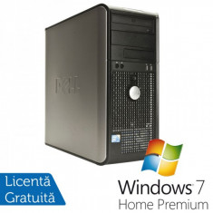 Dell Optiplex GX760, Intel Core 2 Duo E8400 3.0Ghz, 4Gb DDR2, 160Gb HDD, DVD-ROM + Windows 7 Home Premium - Sisteme desktop fara monitor