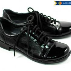 Pantofi dama piele naturala cu siret, casual - Made in Romania P53