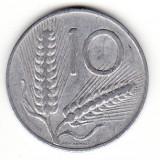 Italia 10 lire 1955, Europa, An: 1955, Aluminiu