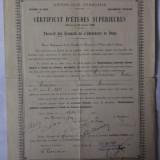 DIPLOMA STUDII SUPERIOARE PARIS 1927 - Diploma/Certificat