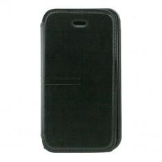Husa Telefon Atlas, Negru, Piele Ecologica, Toc - Toc Book iPHONE 4/4S Negru