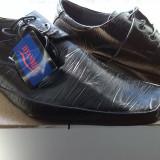pantofi barbati piele eco negri marime 43