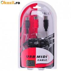 Cablu convertor USB MIDI IN- OUT. - Antena Auto
