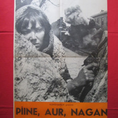 Afis film Paine, aur, Nagan - URSS, afis cinema film comunist