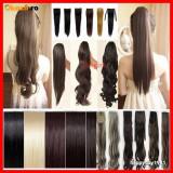 Extensie extensii coada par ponytail CALITATE BLOND CIOCOLATIU NEGRU CASTANIU - Extensii par BeautyUkCosmetics