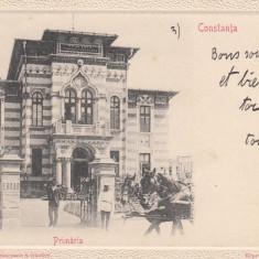 CONSTANTA, PRIMARIA COMUNEI CONSTANTA (FRONTISPICIUL CLADIRII), CIRCULATA - Carte Postala Dobrogea pana la 1904, Printata