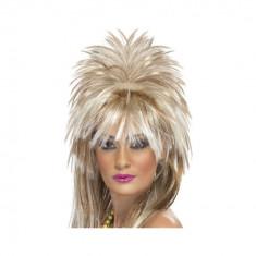 Peruca Dama - Peruca Rock Diva anii 80 - Carnaval24
